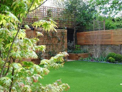 London, Kensington - back garden