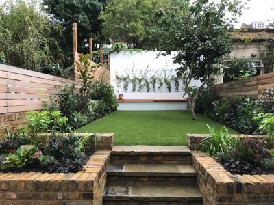 Camden, Back garden constr. & planting