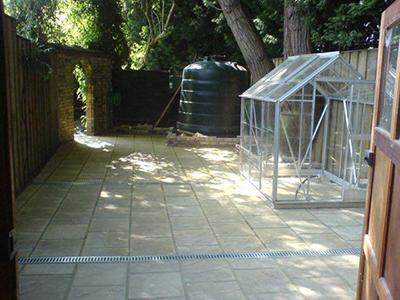 Surrey, Shepperton - garden utility area